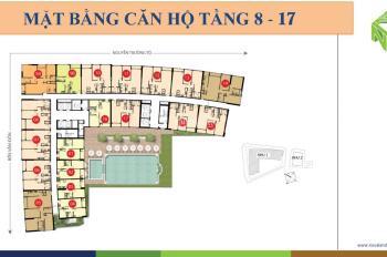 Cho thuê Saigon Royal 2 PN, nhà cơ bản có máy lạnh, rèm cửa và bếp, giá 17,5tr/th. 0939.125.386