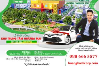 Bán đất thương mại phường 2, TP Bạc Liêu, CK khủng 15% ngày mở bán. Đăng ký ngay 0886665577