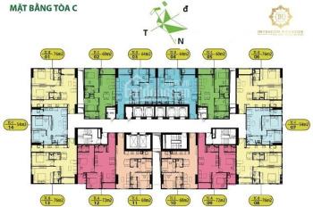 Bán nhanh căn hộ CC intracom riverside, tòa C, căn 05 dt: 60m2, giá: 20.5tr/m2. LH: 0986854978