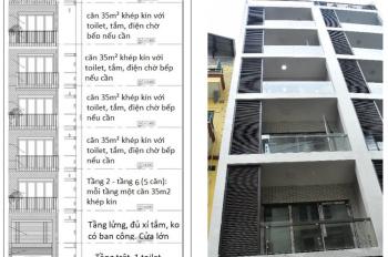 Cho thuê cả nhà CCMN 7 tầng mới xây xong với studio khép kín tại Võng Thị sau UBND phường Bưởi