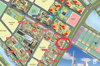 Cho thuê Siêu Shophouse chân đế tòa chung cư S2.12 Vinhomes Ocean Park, Mặt sảnh giá thương lượng