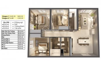 85m2 tòa Dragon 2 view Bitexco thanh toán 40% sở hữu căn hộ trên tổng giá 2,8 tỷ. NH hỗ trợ vay