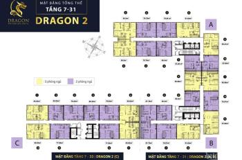 Căn hộ 67m2 duy nhất trên thị trường Block Dragon 2A Giá tổng : 2,23 tỷ LH : 0906354200