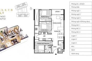 Chính chủ cần bán căn 3P tầng 9, tòa A, ban công Tây Bắc, giá mềm, Green Pearl 0984592846