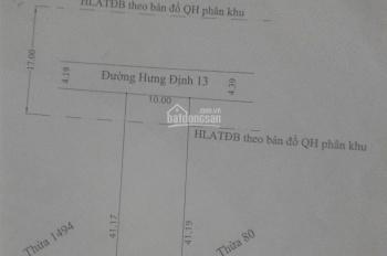 Bán đất tại KV đường Hưng Định 13, P Hưng Định, TX Thuận An, Bình Dương, giá 13 triệu/1m2