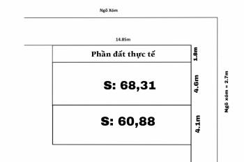 Bán lô đất Tràng Duệ, An Dương, giá chỉ từ 330 triệu- LH: 0859566586