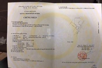 Cần bán gấp nhà mặt tiền Đông Hưng Thuận 06 cấp 4 4*20m SHR, Phường Đông Hưng Thuận, Quận 12