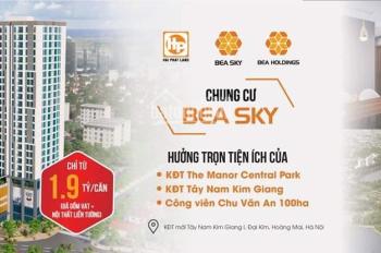 Bán chung cư Nguyễn Xiển Bea Sky, view The Manor Central Park, cạnh công viên Chu Văn An 100ha