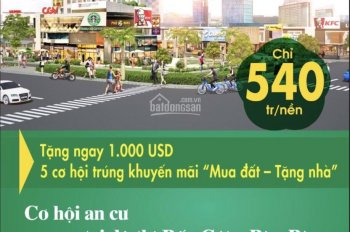 Chào mừng xây dựng trung tâm thương mại thế giới - bán đất 540tr ngay TTHC Bến Cát LH: 0901 692 999