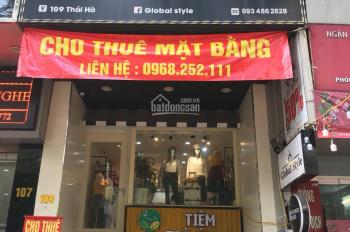 Cho thuê cửa hàng mặt phố Thái Hà. LH 0968252111
