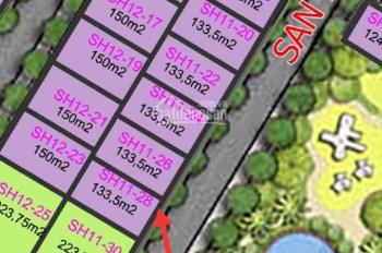 Chính chủ bán nhanh BT song lập SH 11-28, 133.5m2, Đông Nam, View vườn hoa, 10.5 tỷ LH: 0913424532