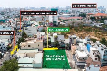 Bán đất hẻm 11 Vườn Lài, P. Phú Thọ Hòa, Tân Phú, DT 4m x 16m, sổ đầy đủ. Giá 5.25 tỷ