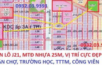 0932039393 - Bán đất lô J21 đối diện BV Hoàn Hảo, MT đường nhựa 25m, SHR, thổ cư 100%
