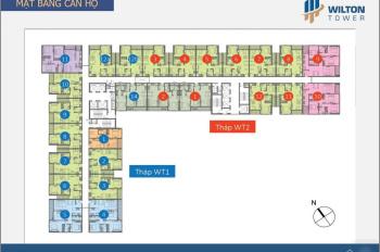 Cho thuê căn hộ Wilton Tower 2PN diện tích 68m2 giá 17tr/th bao phí. LH 0917301879