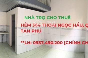 Phòng trọ sạch đẹp yên tĩnh-không chung chủ-Thoại Ngọc Hầu Q. Tân Phú phù hợp hộ GĐ, nhân viên VP