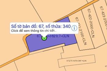 Bán lô đất 3800m2 xã Long An, Long Thành, ngay cửa sân bay Long Thành, đảm bảo rẻ nhất, 0789666604