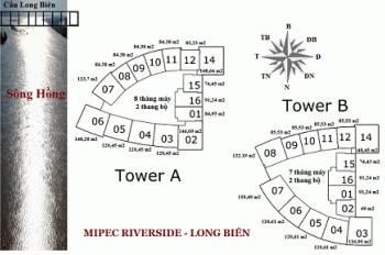 Bán căn  07 Tòa A chung cư Mipec Riverside Long Biên Hotline BQLDA : 0905956336
