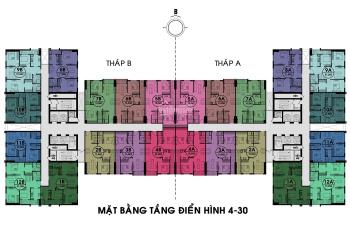 76m2, 2 ban công hướng nam, nhà nội thất mới, sổ cầm tay, cần bán gấp 0966858601