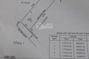 Cần bán lô đất hẻm 82 Huỳnh Văn Nghệ, P15, Tân Bình, hẻm 4m giá 4,2 tỷ ai có nhu cầu LH 0906617919