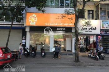 Cho thuê cửa hàng phố Giảng Võ, nằm bên số lẻ. Diện tích: 80m2 x 4 tầng, mặt tiền: 4,5m nở hậu 7m
