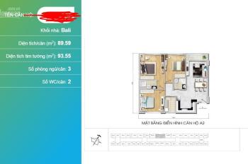 Chính chủ cần bán 3PN full nội thất Bali tầng trung view nội khu. Phí 1% cho 500 anh em nha