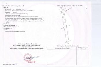 KCN Becamex Chơn Thành, Bình Phước DT 324m2, TC 100m2 đã có sổ. Giá TT 350tr, ngân hàng hỗ trợ 50%