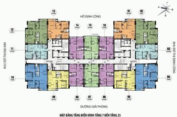Cần tiền bán lỗ CC CT3 Định Công căn 1501B, 69m2 view hồ, giá 1,5 tỷ (BT). LH chính chủ 0961958301