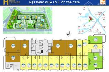 Cho thuê ki ốt thương mại tại tầng 1 chung cư Homeland để kinh doanh. Diện tích 35m2 - 50m2