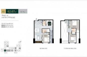 Sang nhượng gấp căn hộ có lửng 99m2, hướng Đông Nam - Hoàng Văn Thụ, giá chỉ 4.336 tỷ, 0934 048 368