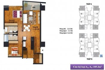 Bán cắt lỗ căn góc 3 mặt thoáng tầng 20, diện tích 98.2m2, tòa A