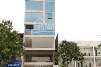 Cho thuê nhà mặt phố Nguyễn Văn Cừ, DT 230m2 x 9T, MT 8m, nhà mới có hầm, thang máy. LH 0974739378