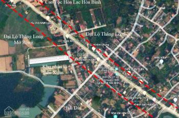 Đất nền khu Hòa Lạc ngay sát Đại Lộ Thăng Long chỉ với 9 triệu/m2. LH Ngay: 0339.365.274