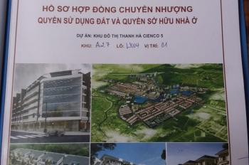 Chính chủ bán đất liền kề Khu đô thị Thanh Hà, Hà Đông.