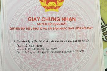 Bán nền thổ cư sổ đỏ 6x20m nằm trong KDC Bình Hưng, Bình Chánh kế bến xe quận 8
