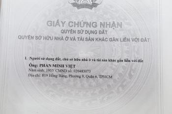 Bán nhà MT số 819 đường Hồng Bàng, Phường 9, Quận 6 TP HCM