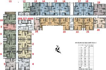 Chính chủ bán nhanh căn hộ 1607 DT 62,5m2 CC Ecohome 3, gốc + chênh 80tr. LH 0904999135