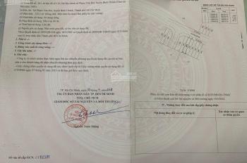 Bán 135,3m2 thổ cư 100% sổ hồng riêng, đại lộ Trần Văn Giàu đi vô Võ Văn Vân