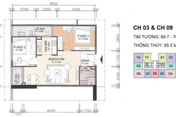 Bán căn hộ chính chủ 1703, CT2, chung cư thương mại và dịch vụ A10 Nam Trung Yên, Cầu Giấy, Hà Nội