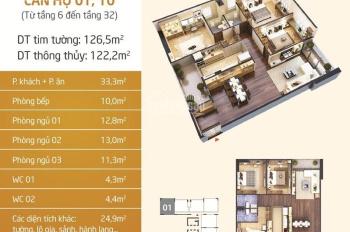 Cần tiền cho con đi du học Mỹ bán gấp căn hộ 122m2, 3PN, tòa N01T5 Lạc Hồng 1, Ngoại Giao Đoàn