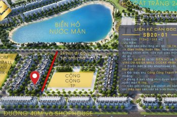 Bán căn góc liền kề 115m2 khu Sao Biển gần biển hồ và TTTM Vincom Megamall Vinhomes Ocean Park