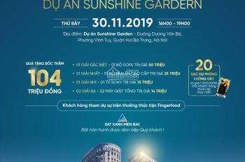 Đăng ký tham dự mở bán lớn dự án Sunshine Garden với quà tặng 2 cây vàng 80tr VNĐ, trực tiếp CĐT