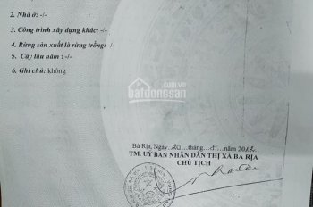 Cần bán 516.9m2 đất có 300m2 thổ cư Hương Lộ 2 xã Long Phước, TP Bà Rịa, BRVT