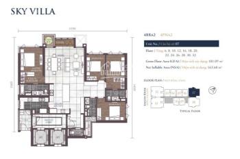 Bán căn Sky Villa số 07 tòa Altaz, Feliz En Vista, DT 181m2 view sông, giá 9.9 tỷ. LH: 0931356879