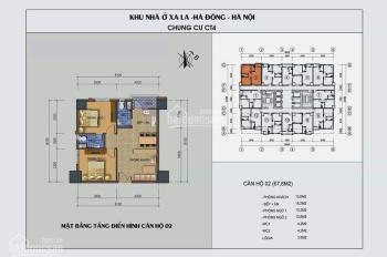 Tìm là có, ngó là mua, vừa là bán full nội thất căn góc 2PN tầng trung tòa CT4 Xa La giá tốt!