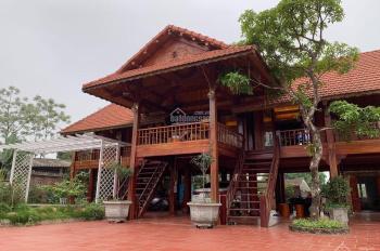 Đẹp vô cùng biệt thự nhà sàn gỗ quý khuôn viên hoa hồng chỉ sẵn sử dụng, LH: 0974715503/0356891222