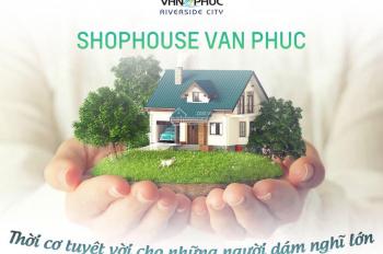 Nhà phố thương mại mặt sau Shophouse Nguyễn Thị Nhung KĐT Vạn Phúc 7x20m hầm + 5 lầu. Giá: 15.7 tỷ