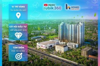 Nhận báo giá Mipec Rubik 360 chỉ với 2,3tỷ 2pn - full nội thất cao cấp, ls 0%, ck 6% lh 0915015556