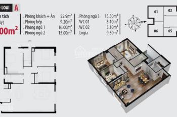 Cần thu hồi tiền bán không lợi nhuận căn hộ 138m2 toà B, view bể bơi, nhận nhà ở ngay