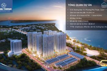 Bán căn hộ Q7 SG Riverside rẻ nhất Q.7, căn 1PN+, giá CĐT 1,462tỷ, thanh toán chậm 3 năm-0933626366
