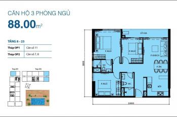 Giá tốt - Bán căn góc 3PN 88m2 tại Orchard Park View, nội thất cơ bản, view đẹp, giá 5 tỷ. Có HĐMB